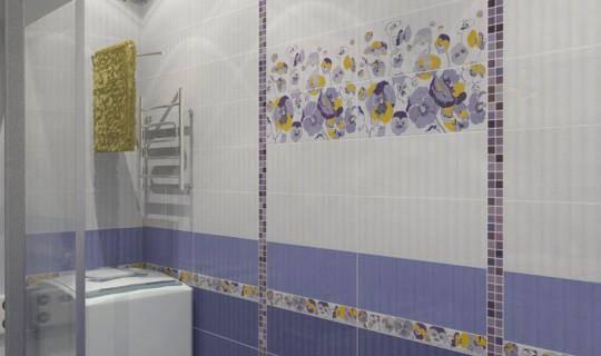 Ванная комната с фиалками