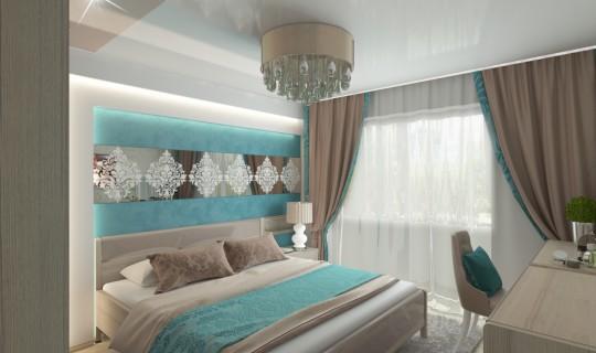 Спальня «Шоколад и бирюза» г. Амурск