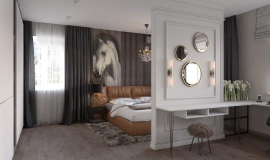 Спальня молодых  в большом доме