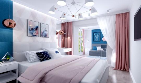 Спальня с будуаром