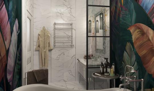 Ванные комнаты в коттедже