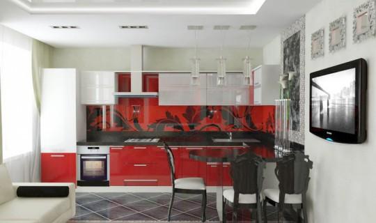 Гостиная «Очарование красного»