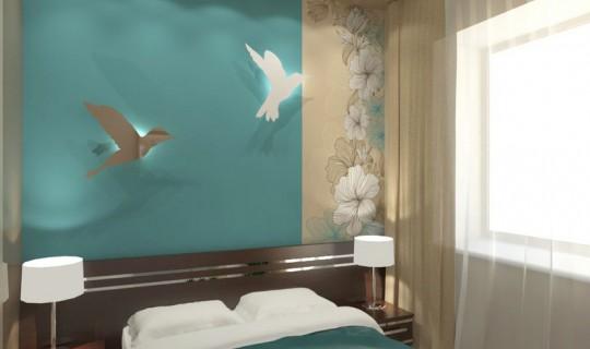Спальня и голуби