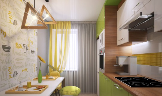 Кухня для Евгении и ее большой семьи