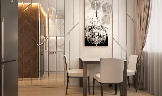 Кухня с зеркальными элементами