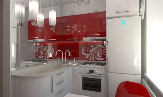 Кухня «Немного гламура»