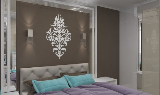 Спальня с встроенными шкафами