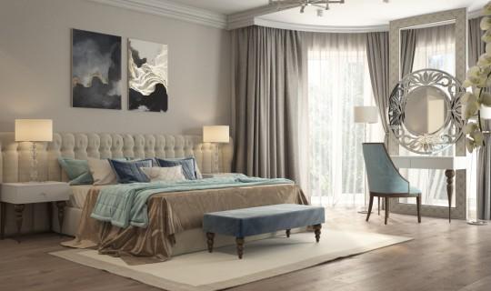 Спальня с кабинетом на лоджии