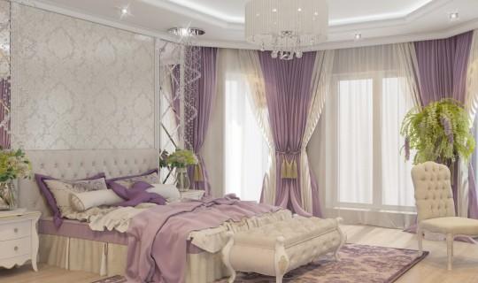 Спальня в большом доме